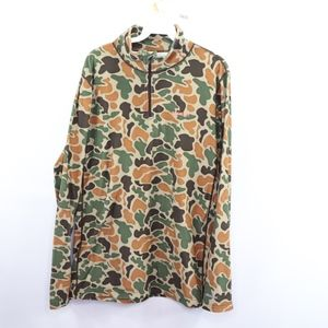 Burton DryRide Mens Medium Half Zip Camo Sweater